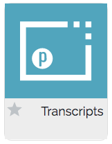 transcripts icon from MyPortal