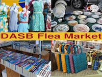 aprons, books and items for sale