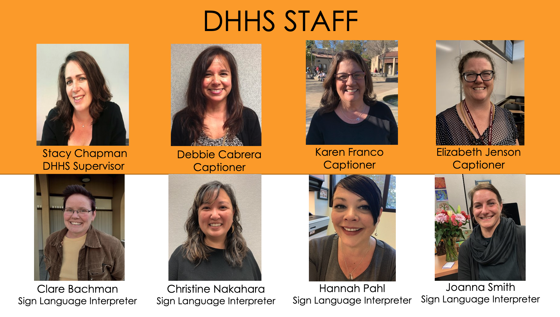 DHHS Staff Photos