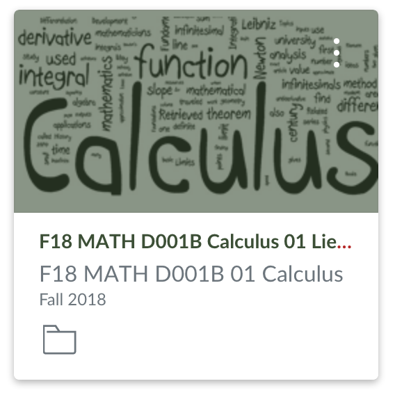 Canvas Calculus Course Button